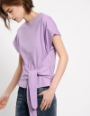 Front Tie Capped Sleeve Top