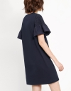 Smocked Sleeves Jersey Dress