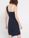 Asymmetric Fitted Dress With Interlaced Neckline