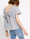 Eyelet Lace Top With Bow Tie