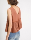 Asymmetric Pleated Tank Top