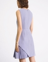 Asymmetric Pleated Sheath Dress