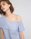 One Shouldered Woven Top