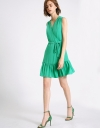 Wrap Dress With Gathered Skirt