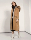 Long Coat With Faux Fur Hood