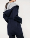 Contrast Fused Knitted Wool Coat