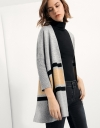 Oversized Cardigan With Contrast Coloured Stripes