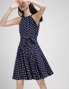 Polka Dotted Fit-Flare Dress