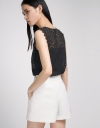 Lace Top With Drawstring
