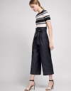 Wide-Leg Belted Pants