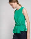 Sleeveless Top With Twist Detailing