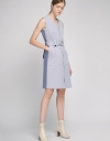 Color Block Dress With Zipper Front