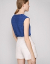 V-Neck Top With Lace Back
