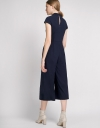 Belted Jumpsuit With Twist Front