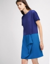 Color-Block Layered Shift Dress