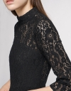 Guipure Lace Dress With Layered Hem