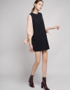 Contrast Sleeved Dress With Button Back