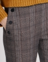 Checked Pants With Side Pockets