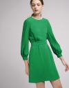Tied Shift Dress With Button Back