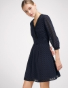 Shift Dress With Contrast Lace Trims