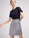 Pleated Dress With Contrast Skirt