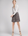 Shirt Dress With Houndstooth Skirt