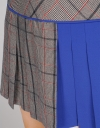Houndstooth Dress With Pleated Hem