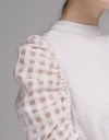 Ribbed Top With Button Back