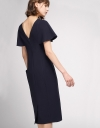 Fitted Midi Dress With Asymmetric Hem