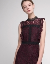 Lace Shift Dress With Contrast Panels