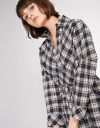 Belted Check Shirt