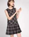 Checked Dress With Pleated Hem