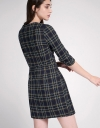 Multicolored Check Shift Dress