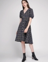Puff Sleeved Dress In Check