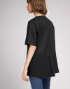 Sleeved Top With Pleated Hem
