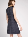 Tweed Dress With Button Detailing