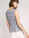Geometric Printed Ribbed Top