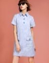 Tweed Shift Dress With Pockets