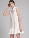 Embroidered Shirt Dress With Contrast Hem