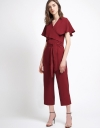 Tied Jumpsuit With Flouncy Sleeves