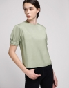 Sequined Top With Gathered Sleeves
