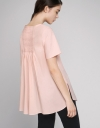 Oversized Blouse With Pleated Back
