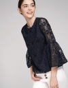 Sleeved Lace Blouse