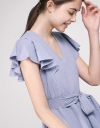 Tied Elasticated Dress With Ruffles