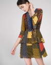 Hybrid Printed Cascading Dress