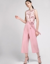 Tied Jumpsuit With Floral Print
