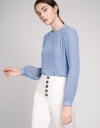 Sleeved Pleated Blouse