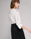Cut-Out Sleeved Blouse