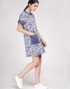 Tweed Shift Dress With Contrast Pockets