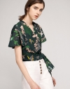 Wrap Sleeved Floral Top